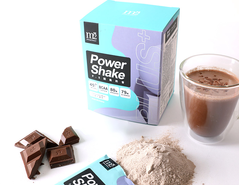 M2輕次方超能奶昔升級配方_巧克力薄荷_定價NT$990(7包盒)_情境圖